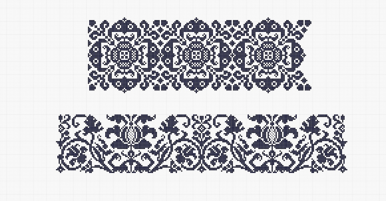 Textile Research Centre: embroidery charts from 18th century Germany