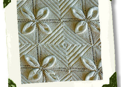 This knitted counterpane bedspread was made in 1865