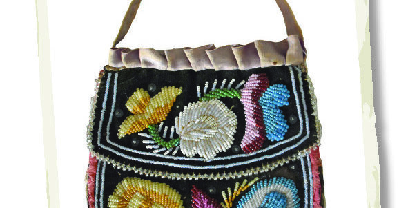 This purse was made by an unknown Bruce County First Nations artist between 1860 and 1880.