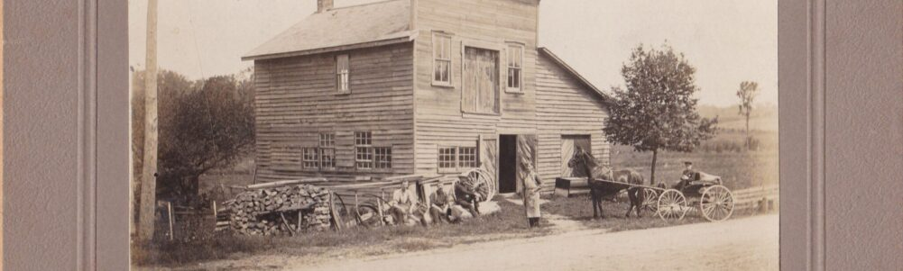 Herb Wheeler's Carpentry Shop, Herb standing in front