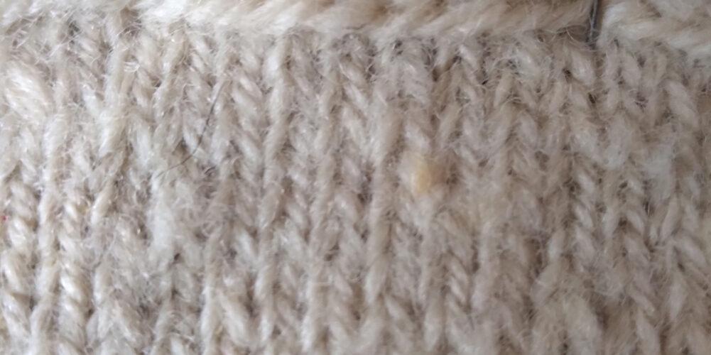 Huron County Arcott knitting sample 1 close up b